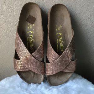 Birkenstock Papillio rose gold sandals size 40